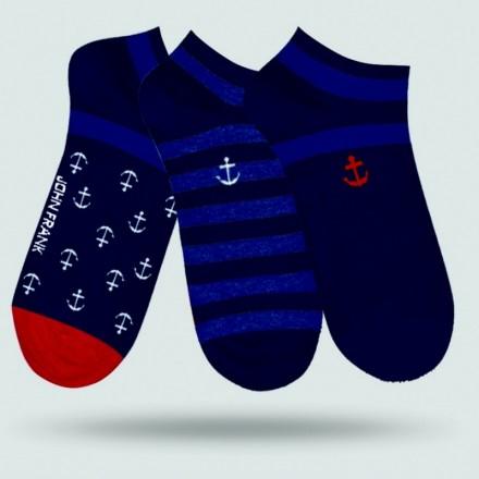 Pánske ponožky John Frank JF3SS18S21 - 3PACK