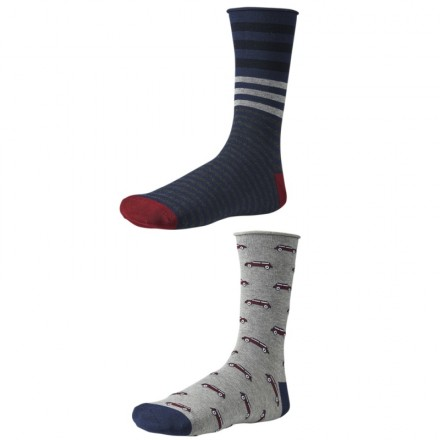 Pánske ponožky Ysabel Mora 22680 - 2 pack - modrá
