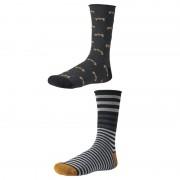 Pánske ponožky Ysabel Mora 22680 - 2 pack - čierna