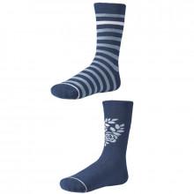 Dámske ponožky Ysabel Mora 12622 - 2 pack - modrá